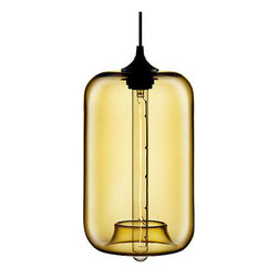 Arendal Pendant - Brown Tint - When Edison invented the first long-lasting light bulb, he lit up the world. Influenced by the aesthetic of the simple Edison light bulb, the Arendal Pendant brings an inventive charm to your lighting. The lamp has been crafted out of mouth-blown glass for a classic look that is both vintage and modern. Comes with an antique-style cylinder bulb.