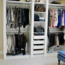 Transitional Closet by Classy Glam Living