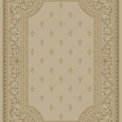 """Concord Global - Concord Global Imperial Fleur De Lys Ivory 7'10"""" x 10'10"""" Rug (1242) - Rugs in the Imperial Collection are reproductions of the antique carpets that were made in Turkey, Iran and France. Their mellow tones are suited for any color scheme."""