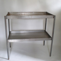 Green Zebre Inventory - Large industrial console table made of welded steel. Very industrial but clean.