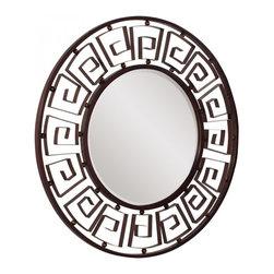 www.essentialsinside.com: cherokee round framed wall mirror - Cherokee Round Framed Wall Mirror by Uttermost, available at www.essentialsinside.com