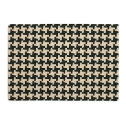 Black & White Knit Houndstooth Custom Placemat Set - Is your table looking sad and lonely? Give it a boost with at set of Simple Placemats. Customizable in hundreds of fabrics, you're sure to find the perfect set for daily dining or that fancy shindig. We love it in this chunky knit black & white houndstooth. perfect for adding cozy texture to any aesthetic from modern to traditional.