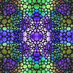 Mosaic Art - Original Labor of Love and Stone Rock'd Art Designs by Cummings - Heart Star - Colorful Art Stone Rock'd Art By Sharon Cummings. Buy Fine Art Prints Online.