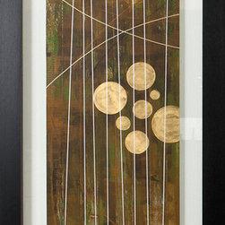 Paragon Decor - Vertical Envy I Artwork - Exclusive Hand Embellished Gicl�ee with Silver/Gold Leaf Details - Glass Mat