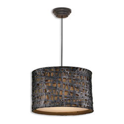Uttermost - Uttermost Alita Metal Hanging Shade - Aged black metal with rust accents.