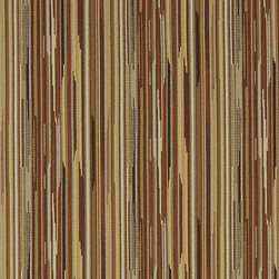 Gold Orange And Rust Abstract Striped Contract Upholstery Fabric By The Yard - P3352 is great for residential, commercial, automotive and hospitality applications. This contract grade fabric is Teflon coated for superior stain resistance, and is very easy to clean and maintain. This material is perfect for restaurants, offices, residential uses, and automotive upholstery.