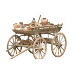 Turkish Wagon - Wonderful working vintage painted horse wagon from the Turkish countryside.  All you need is a horse and you can have fun hayrides or use as amazing decor.