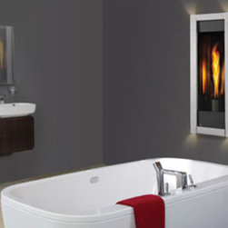 Napoleon Gas Fireplaces: GT8 Torch - A sleek, modern fireplace. Technology lets us take fire more places in our home and this window to the flame make a small space much cozier.