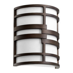 Quorum International - Quorum International 5202 Solo 2 Light ADA Compliant Wall Washer Wall Sconce - Quorum International 5202 Solo 2 Light ADA Compliant Wall Washer Wall SconceThe contemporary lights of the Solo Collection generate dramatic tension with the contrast between the white acrylic shade and the Oiled Bronze finish.Quorum International 5202 Features: