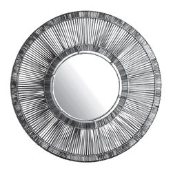 Lazy Susan - Lazy Susan LZS-466042 Black Split Rattan Spoke Mirror - Mirrors are one of the most important accessories in your home. They can enlarge a room, enhance a pretty view, add more light in a dark space or simply be an art object. Place this in an entryway to greet guests or hang above a fireplace to give a dramatic texture to your wall.