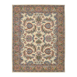 Nourison - NOUR-33856 Nourison India House Area Rug Collection - Traditional designs are the hallmarks of this collection of area rugs. Featuring classic traditional patterns, as well as striking contemporary motifs, there's something here for any decorating preference. This is truly an extraordinary combination of beauty and value.