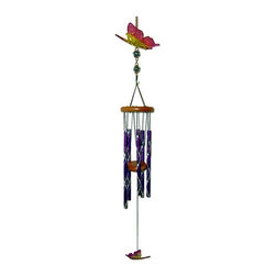 Great World - 27 Inch Purple and Yellow Butterfly Acrylic Musical Wind Chime - This gorgeous 27 Inch Purple and Yellow Butterfly Acrylic Musical Wind Chime has the finest details and highest quality you will find anywhere! 27 Inch Purple and Yellow Butterfly Acrylic Musical Wind Chime is truly remarkable.
