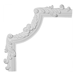 "Ekena Millwork - 15""W  x 15""H x  3/4""P Hillsborough Panel Moulding Corner - Our beautiful panel moulding and corners add a decorative, historic, feel to walls, ceilings, and furniture pieces.  They are made from a high density urethane which gives each piece the unique details that mimic that of traditional plaster and wood designs, but at a fraction of the weight.  This means a simple and easy installation for you.  The best part is you can make your own shapes and sizes by simply cutting the moulding piece down to size, and then butting them up to the decorative corners.  These are also commonly used for an inexpensive wainscot look."