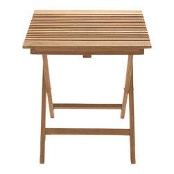 Portable Useful Wood Teak Folding Table - Description: