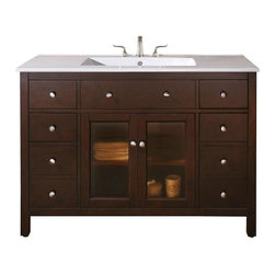 "Avanity - Avanity Lexington 48 Vanity Cabinet Only, Light Espresso (LEXINGTON-V48-LE) - Avanity LEXINGTON-V48-LE Lexington 48"" Vanity Cabinet Only, Light Espresso"