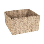Design Ideas - Water Hyacinth Storage Basket, Large - Our stylish, sophisticated large sized Water Hyacinth Storage Baskets by Design Ideas, are hand woven from sustainable harvested water hyacinth reeds from the rivers and waterways of Thailand. The perfect catch-all, the baskets make for an attractive way to store everything from small toys to magazines to knitting projects.