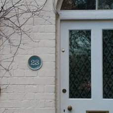 Ceramic house number