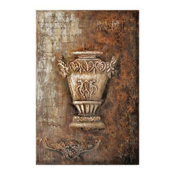 Yosemite - Yosemite FCC5388D-2 Samovar II Wall Art - Yosemite FCC5388D-2 Samovar II Wall ArtThe focal point of this piece is beautifully painted with a wonderful use of shading and texture. The piece has a rustic feel, using blended tones of red and brown.Yosemite FCC5388D-2 Features: