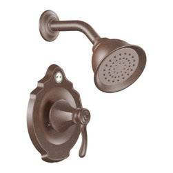 Moen - Moen T2502EPORB ORB Posi-Temp Shower Valve Trim, 1-Handle 1-Function Cartridge - The richly detailed Vestige series features a nostalgic design topped with a finial accent that complement traditional decor.
