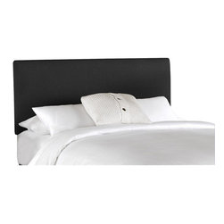 Skyline Furniture - Skyline Furniture Upholstered Linen Slipcover Headboard in Black-Twin - Skyline Furniture - Headboards - 730SLLINBLK - This beautifully crafted headboard adds style to any bedroom. The slipcover frame allows great comfort for a bedtime read before heading off to a good night sleep.