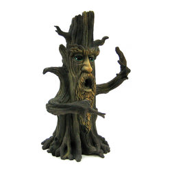 Zeckos - Tree Man Incense Tower Burner Lotr Green Man - Made of cold cast resin, this cool tower incense burner features grizzled old tree with a human face. Holes on the top and mouth allow the smoke to escape, filling the room with your favorite scent. Measuring 11 1/2 inches tall, 7 inches wide and 5 1/2 inches deep, it is hand-painted to accent the detail and give it some life. It looks great on coffee tables, nightstands and desks. It comes with a holder for stick or cone incense.