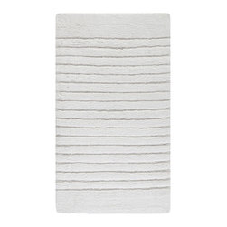 """Safavieh - Contemporary Plush Master Bath Oval 1'9""""x2'10"""" Oval White-White Area Rug - The Plush Master Bath area rug Collection offers an affordable assortment of Contemporary stylings. Plush Master Bath features a blend of natural White-White color. Machine Made of Cotton the Plush Master Bath Collection is an intriguing compliment to any decor."""