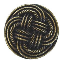 By the Shore - Classic Weave Knob in Antique Brass