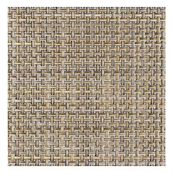 Chilewich - Chilewich Square Basket weave Placemat - Latte, Set of Four - A little textural interest doesn't need to take over the table conversation. These basket weave placemats add nuances of subtle color variations within the classic patterns of traditional weaving. Of course, they can also blatantly brush off suggestions of stains and spots under the application of a damp cloth.