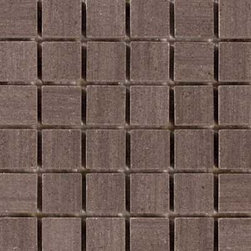 "Glass Tile Oasis - Coffee 1"" x 1"" Brown Sandstone Series Tumbled Natural Stone - Sheet size: 12"" x 12"""
