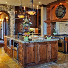Mediterranean Kitchen by Stel Builders, Inc.