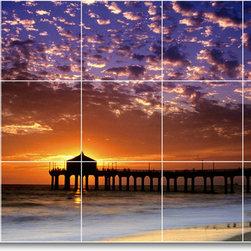 Picture-Tiles, LLC - Sunset Photo Kitchen Tile Mural S011 - * MURAL SIZE: 18x30 inch tile mural using (15) 6x6 ceramic tiles-satin finish.