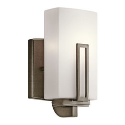 Kichler - Kichler 45224SWZ 1 Light Up Light Wall Sconce from the Leeds Collection - Features: