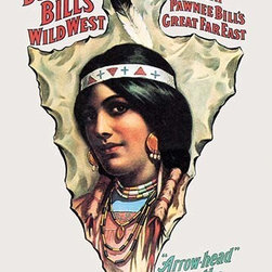 "Buyenlarge.com, Inc. - Buffalo Bill: ""Arrow Head"" - the Belle of the Tribe - Paper Poster 12"" x 18"" - Another high quality vintage art reproduction by Buyenlarge. One of many rare and wonderful images brought forward in time. I hope they bring you pleasure each and every time you look at them."