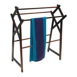 None - Office Accents Mahogany Hardwood Finish Cross Towel Rack - Office Accents brings you fun mahogany cross towel rack. This is perfect for adding a little more style to your bathroom.