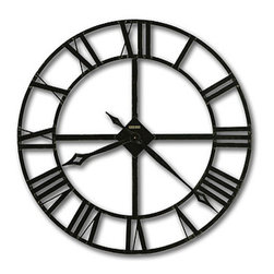 """HOWARD MILLER - Lacy 14"""" Wrought Iron Wall Clock - This decorative clock features:"""