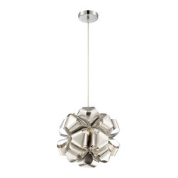 Alternating Current - Alternating Current AC1111 Cindy 1 Light Mini Pendants in Polished Stainless Ste - This 1 light Mini Pendant from the Cindy collection by Alternating Current will enhance your home with a perfect mix of form and function. The features include a Polished Stainless Steel finish applied by experts. This item qualifies for free shipping!