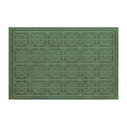 Bungalow Flooring Soft Impressions Star Quilt Indoor / Outdoor Mat - If you're tired of mats that are all style and no function, than it's time to add the Bungalow Flooring Soft Impressions Star Quilt Indoor / Outdoor Mat to your home. Machine-made of polypropylene, this lovely mat delivers exceptional durability and strength.About Bungalow FlooringAs a servicer of the gift and wholesale industry, Bungalow Flooring made their mark selling to more than 50 mail order, regional, and internet retailers. Serving as the retail consumer arm of The Andersen Company, a division of Georgia-based Mountville Mills, Inc., Bungalow Flooring is proud to be a domestic manufacturer of a broad range of floor covering products. Unparalleled in creative design, innovative products, service and fulfillment, only Bungalow Flooring offers such a wide array of floor coverings including personalized doormats, machine washable MicroFibres for the bath and kitchen, as well as molded polypropylene rugs.