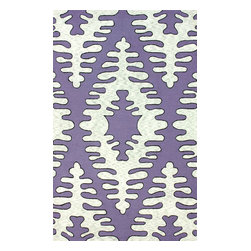"""nuLOOM - Contemporary 7' 6"""" x 9' 6"""" Purple Hand Hooked Area Rug Cotton and Wool VST19 - Made from the finest materials in the world and with the uttermost care, our rugs are a great addition to your home."""