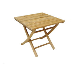 ZEW Inc. - Bamboo Collapsible Low Table - Bamboo Collapsible Low Table