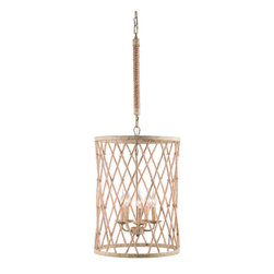 Zuo Modern - Zuo Modern Mica Ceiling Lamp inTwine & Beige w/ Rust - Ceiling Lamp inTwine & Beige w/ Rust belongs to Mica Collection by Zuo Modern Lamp (1)