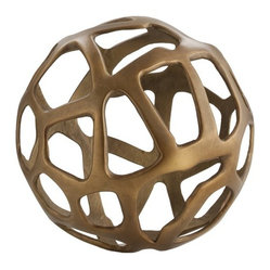 Ennis Small Sphere, Brass