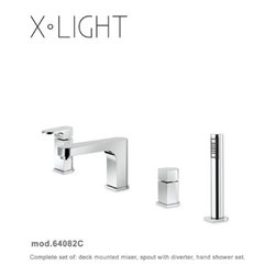 X- Light Faucets and Fixtures by Newform - X-Light Roman Bath Filler