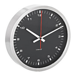 Blomus - ERA Wall Clock, Black - In this modern, fast-paced world, watching time go by can leave us feeling a bit anxious. Then again, it could just be the clocks we're using. Keep time with this elegant piece by Blomus that's as sophisticated as is functional. This beautifully designed round clock is available in easy-to-read white or black minimal faces, which makes it ideal to incorporate into any home or office.