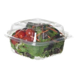 """Eco-products 6 Inch Clear Clamshell - Case Of 240 - 6"""" x 6"""" x 3"""" Clear Hinged Clamshell"""