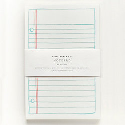 Rifle Lined Notepad - Sweet, notebook-style notepads make note-taking fun again. Somehow it's so much more refined than the 99-cent versions.