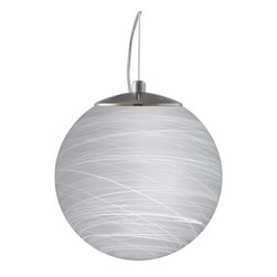Besa Lighting - Besa Lighting   Callisto 12 Cable Pendant - Cable-hung pendant with handcrafted glass diffuser. Provides diffused and decorative illumination. Callisto is available in several handcrafted finishes:
