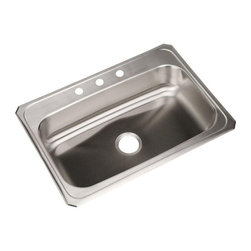 Elkay - Elkay Celebrity CR3122 Single Basin Drop In Kitchen Sink Multicolor - 786646 - Shop for Kitchen from Hayneedle.com! Washing dishes may become a favorite chore when you have the sleek convenience of the Elkay Celebrity CR3122 Single Basin Drop In Kitchen Sink in your kitchen. Your choice of 3 or 4 pre-drilled holes allow you to create your ideal configuration. The one bowl design provides functionality for a variety of tasks. Constructed of stainless steel with sound-deadening properties to reduce noise.About Elkay Elkay sinks faucets and accessories are the American standard. Elky has been family owned since 1920. What started as a father and son sink manufacturing company on the north side of Chicago has grown to become an international company and America s number one selling stainless steel sinks company as well as a name well-known for top-quality faucets water coolers and drinking fountains. Elkay is the professional s choice.