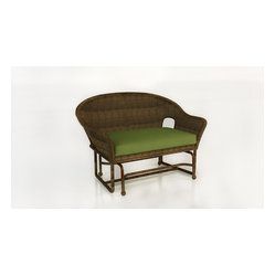 Rockport Wicker Patio Double Glider, Brown