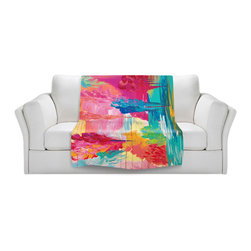 DiaNoche Designs - Throw Blanket Fleece - Julia Di Sano The Return - Original Artwork printed to an ultra soft fleece Blanket for a unique look and feel of your living room couch or bedroom space.  DiaNoche Designs uses images from artists all over the world to create Illuminated art, Canvas Art, Sheets, Pillows, Duvets, Blankets and many other items that you can print to.  Every purchase supports an artist!