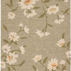 "Surya - Area Rug: Paule Marrot Lima Bean 3' 3"" x 5' 3"" - Shop for Flooring at The Home Depot. The Cannes collection boast a fun playful pattern from designer Paule Marrot. The lively Daisy-like flowers pop out against a bold solid background. Perfect to add personality to both indoor and outdoor room. This collection is medium pile, looped texture for enhanced durability."